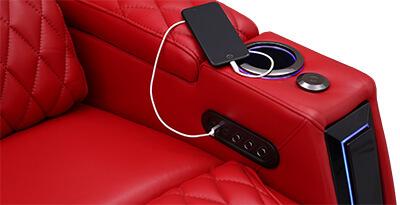 Seatcraft Marathon Multimedia Sofa Storage Console