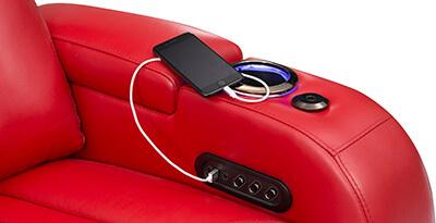 Seatcraft Spire Multimedia Sofa Storage Console