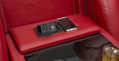 Seatcraft Spire Multimedia Sofa Power USB Charging Station