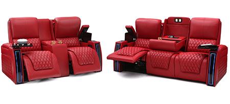 Seatcraft Marathon Multimedia Sofa and Loveseat