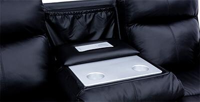 Seatcraft Allegiance Living Room Furniture Hidden Fold Down Table