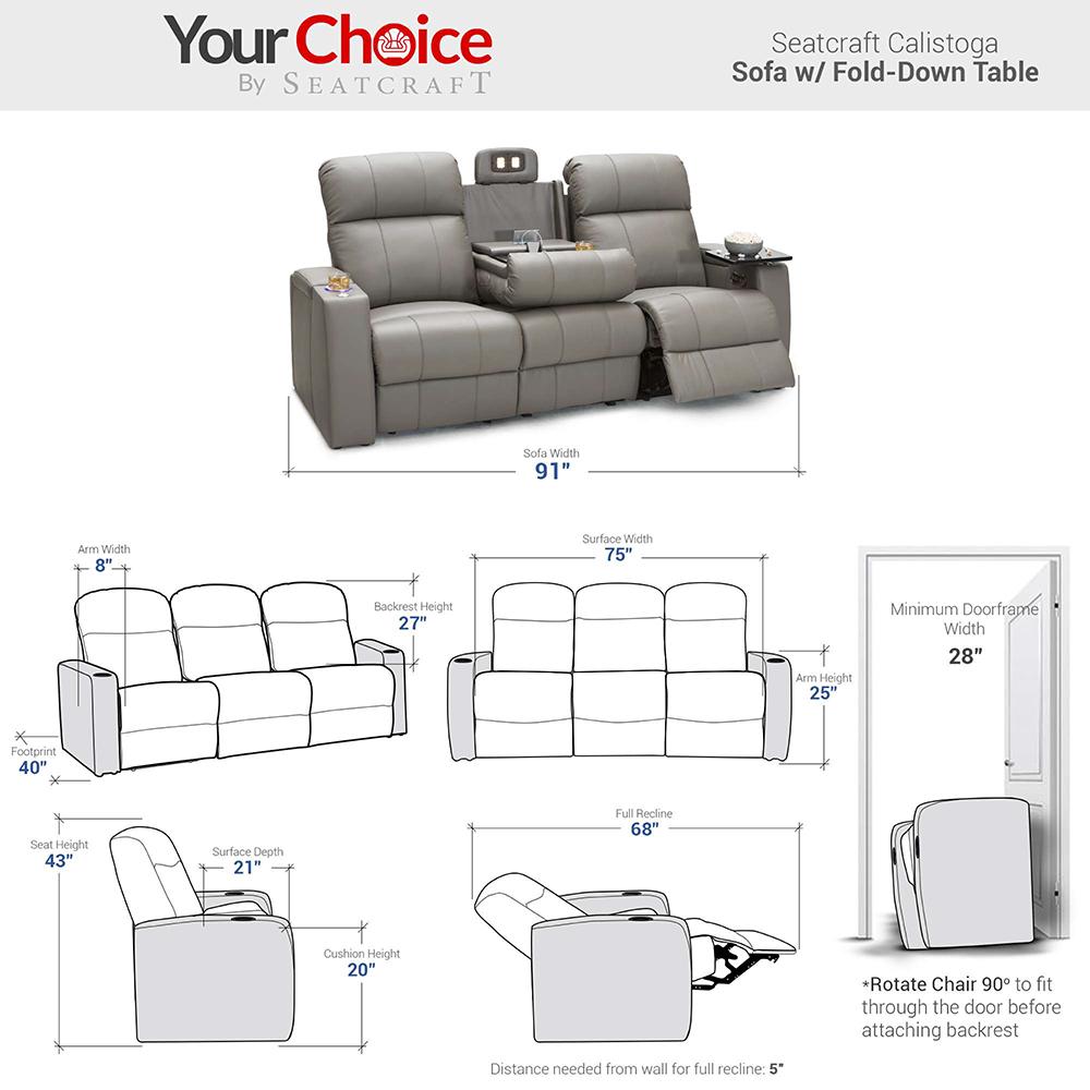 Seatcraft Calistoga Multimedia Theater Furniture