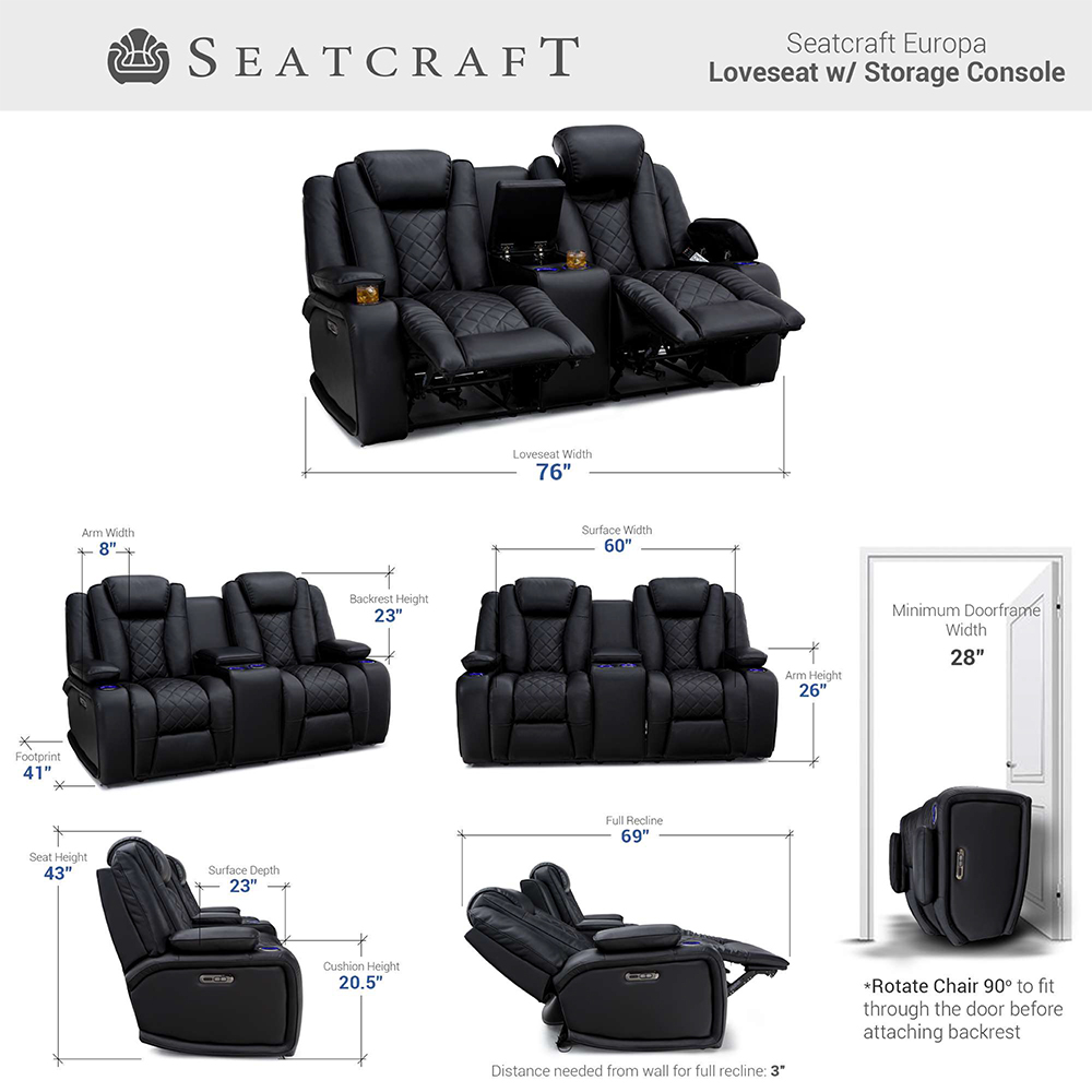 Seatcraft Europa Theater Furniture