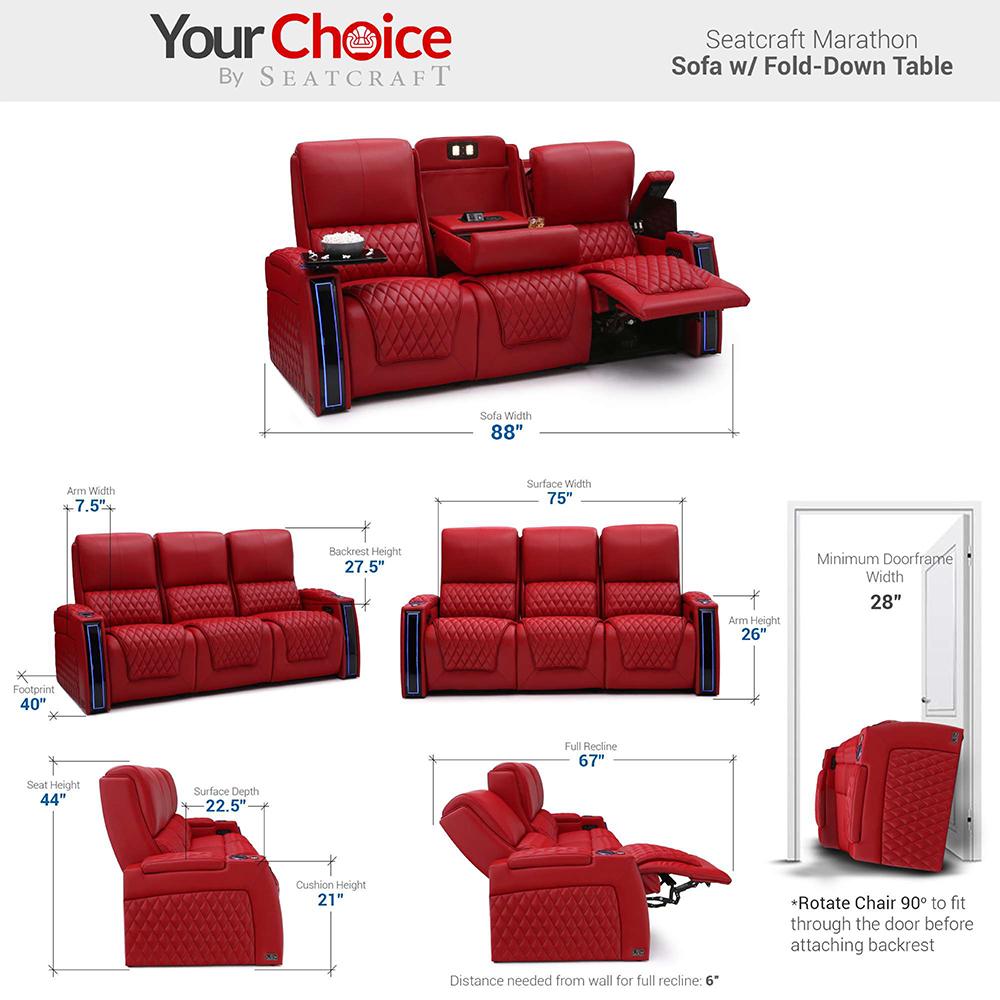 Seatcraft Marathon Multimedia Theater Furniture