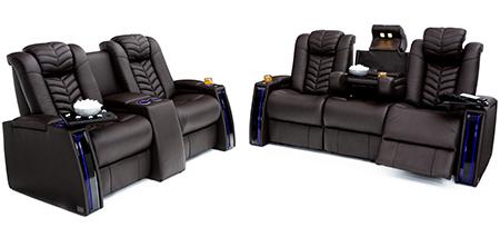 Seatcraft Prodigy Multimedia Sofa and Loveseat