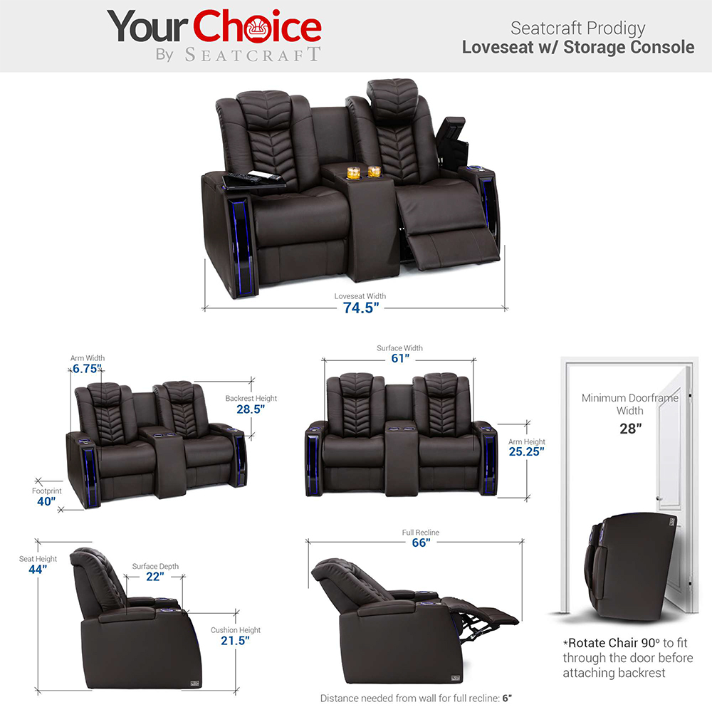 Seatcraft VeloceHome Theater Chairs