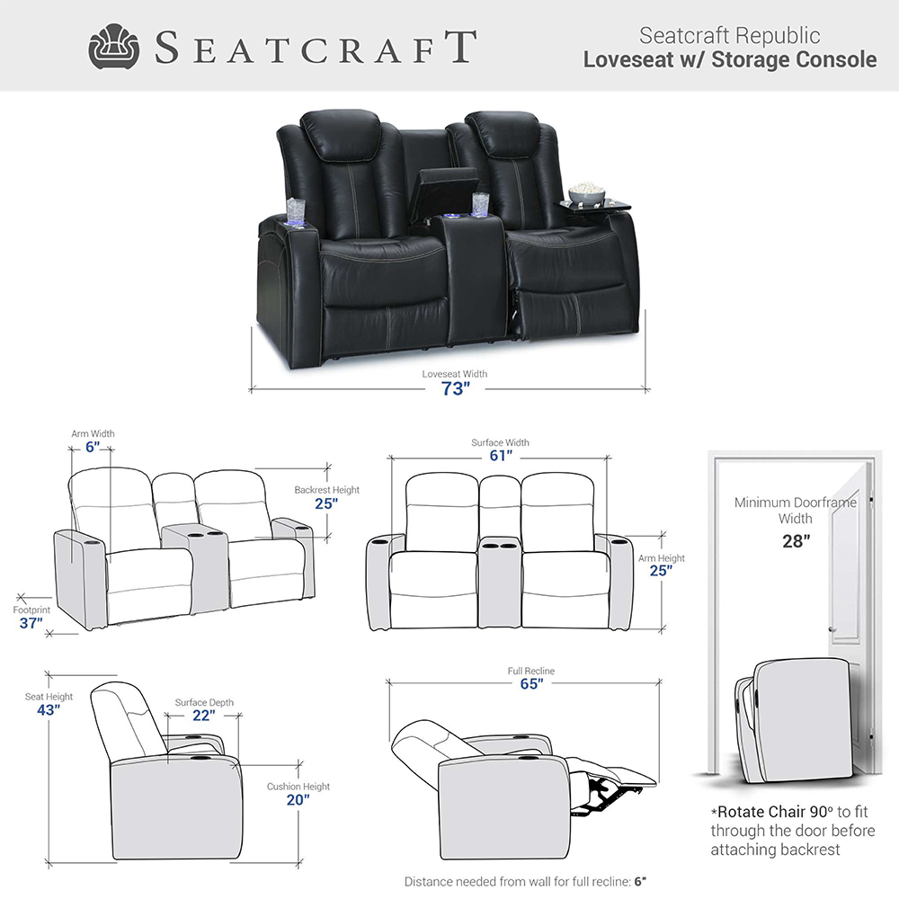 Seatcraft Republic Home Theater Seating