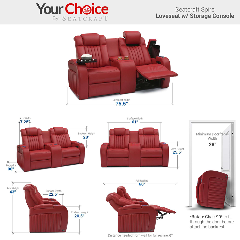 Seatcraft Spire Multimedia Theater Furniture