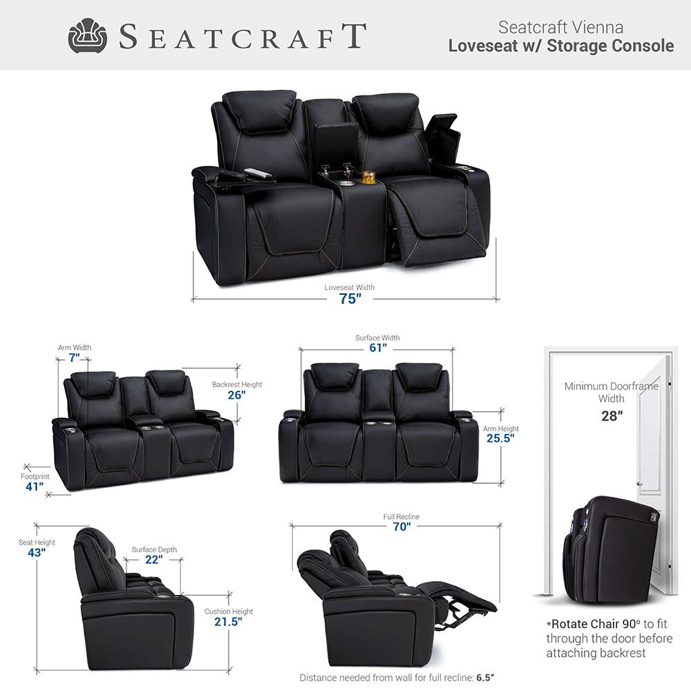 Seatcraft Vienna Home Theater Sofa & Loveseat