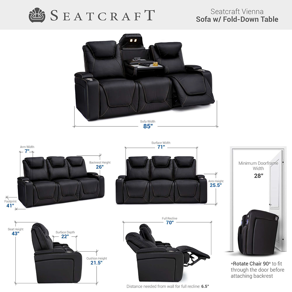 Seatcraft Vienna Home Theater Sofa & Loveseat