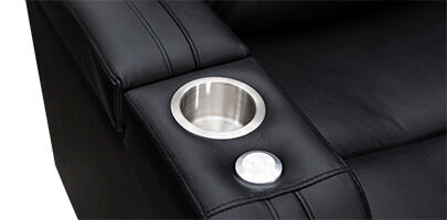 Seatcraft Tiberius Home Theater Sofa Cupholders