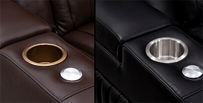 Seatcraft Reflection Home Theater Sofa Cupholders
