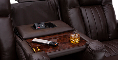 Seatcraft Reflection Home Theater Sofa Fold-Down Table
