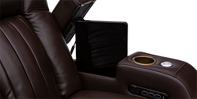 Seatcraft Reflection Home Theater Sofa In-Arm Storage