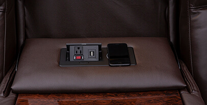 Seatcraft Reflection Multimedia Sofa Power Wireless Charging Station