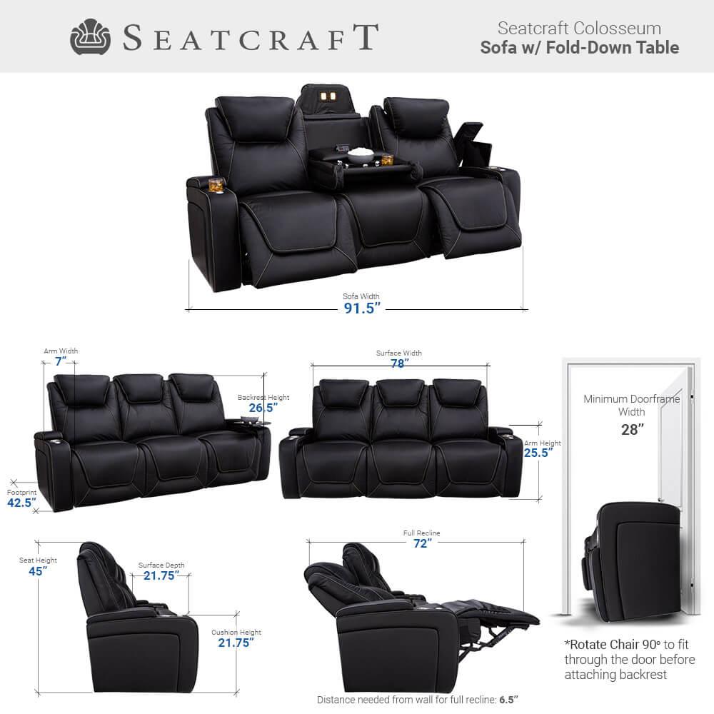 Seatcraft Colosseum Home Theater Sofa & Loveseat