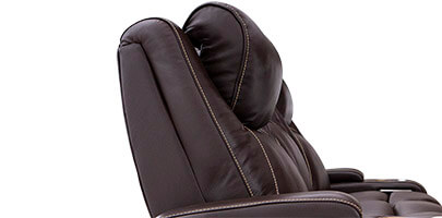 Seatcraft Colosseum Home Theater Sofa Powered Headrests