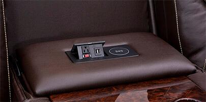 Seatcraft Vienna Multimedia Sofa Power USB Charging Station