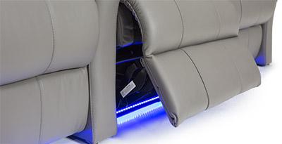 Seatcraft Napa Theater Seat Base Lighting