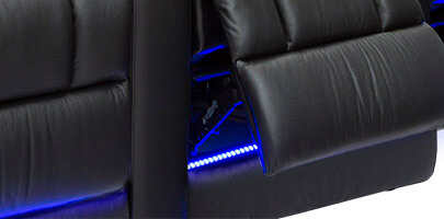 Seatcraft Serenity Theater Seating Base Lighting