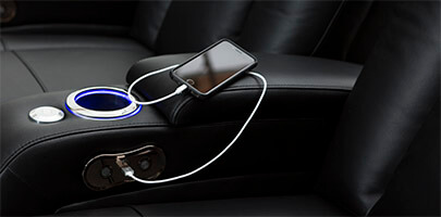 Seatcraft Serenity Theater Seating USB Charging