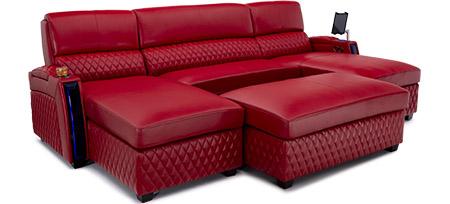 Seatcraft Solarium Media Lounge Sofa Sectional