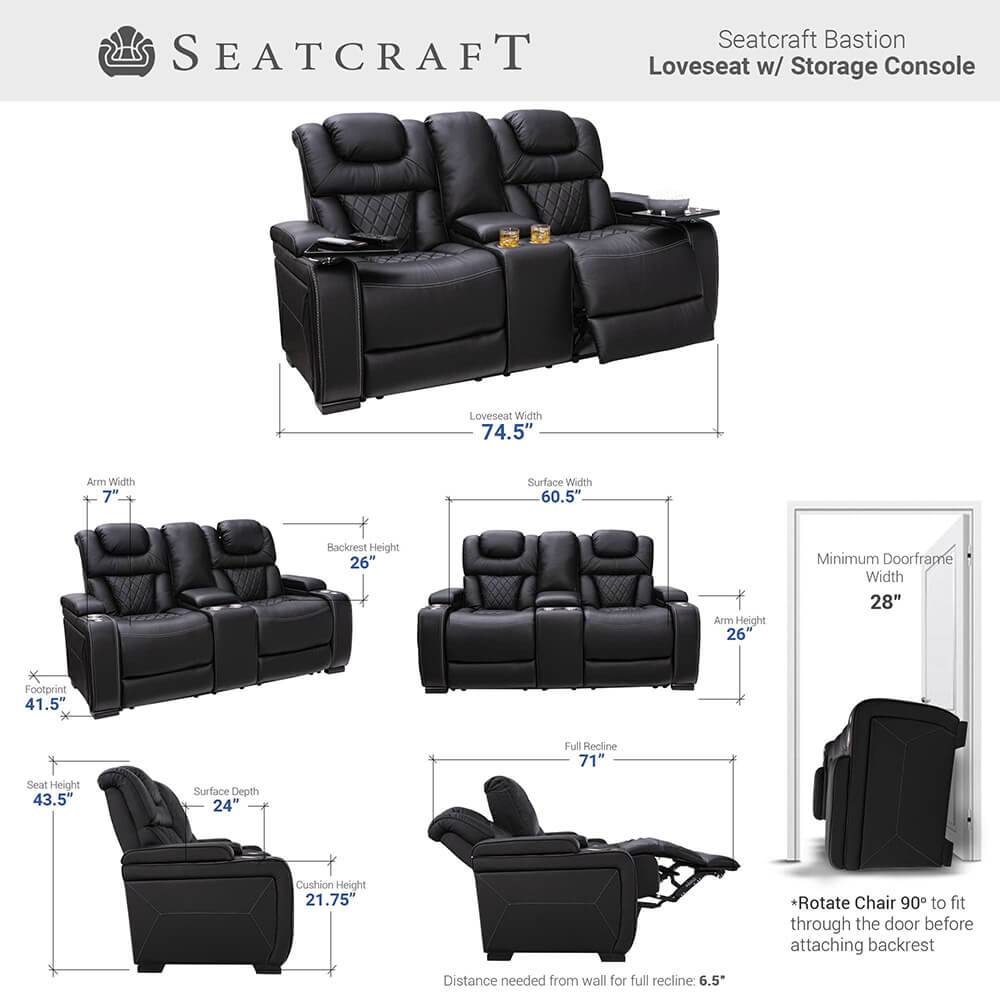 Seatcraft Bastion Home Theater Loveseat