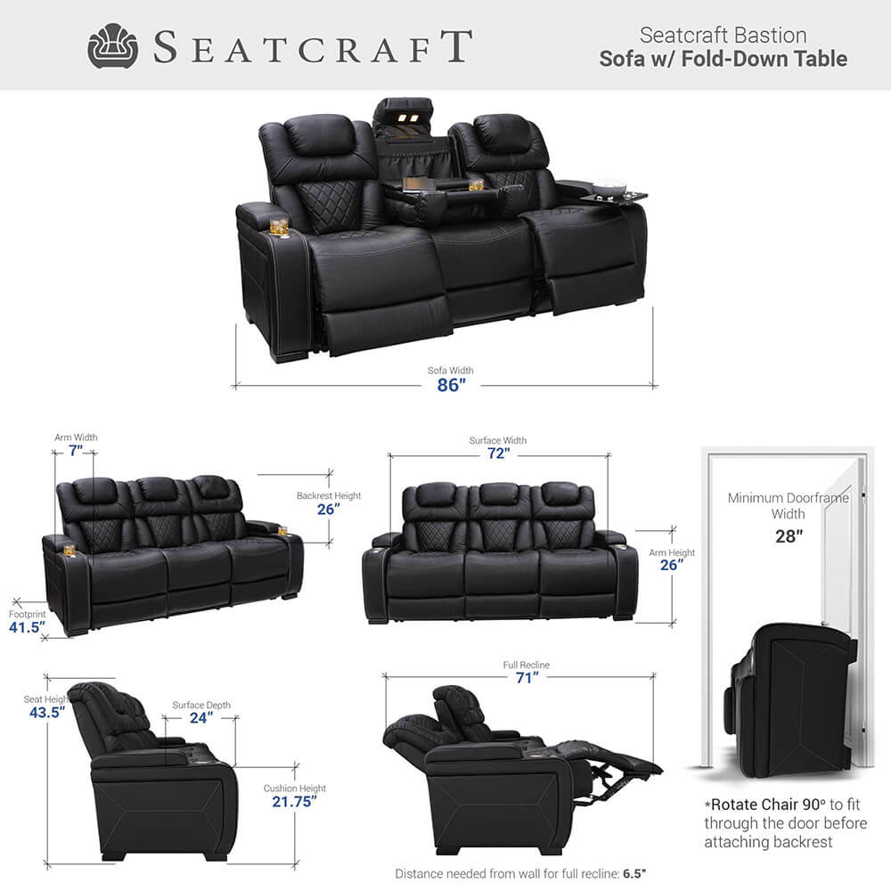 Seatcraft Bastion Home Theater Sofa