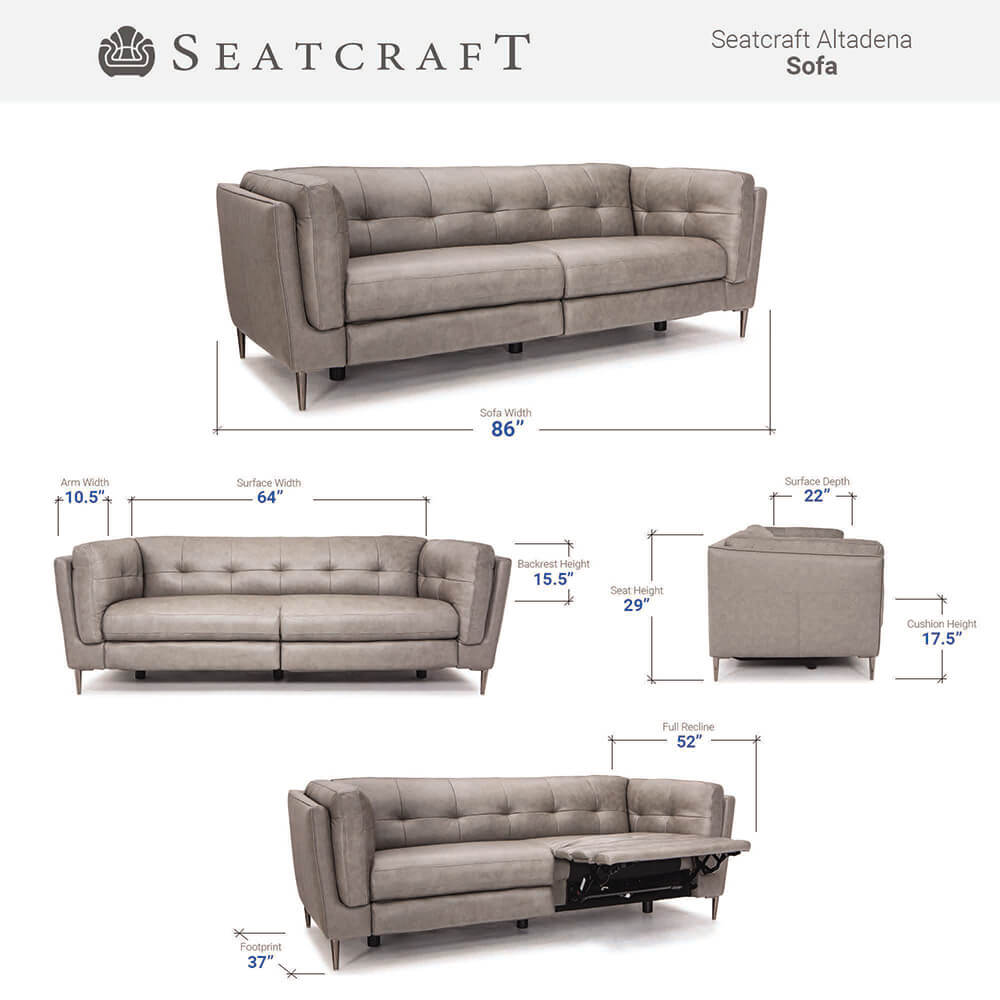 Seatcraft Argus Media Room Seating Dimensions