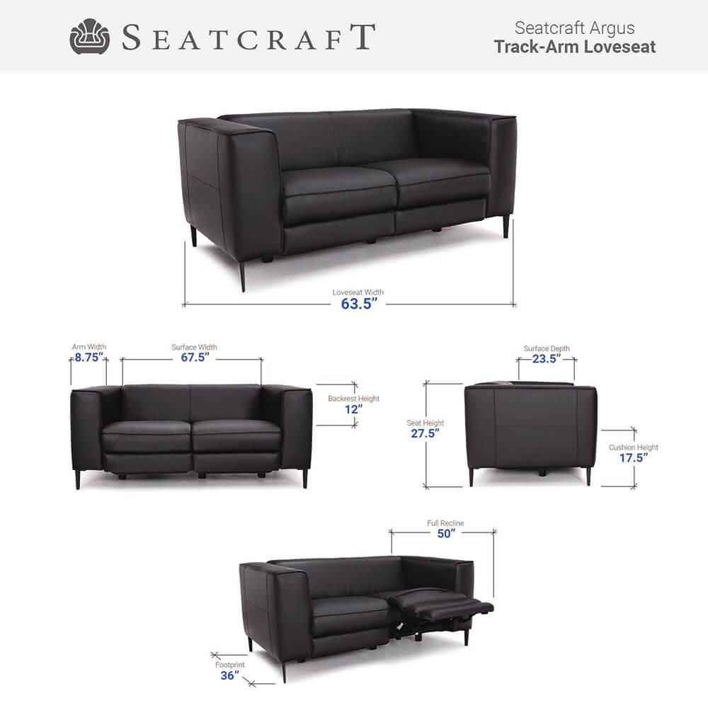 Seatcraft Argus Living Room Furniture Size