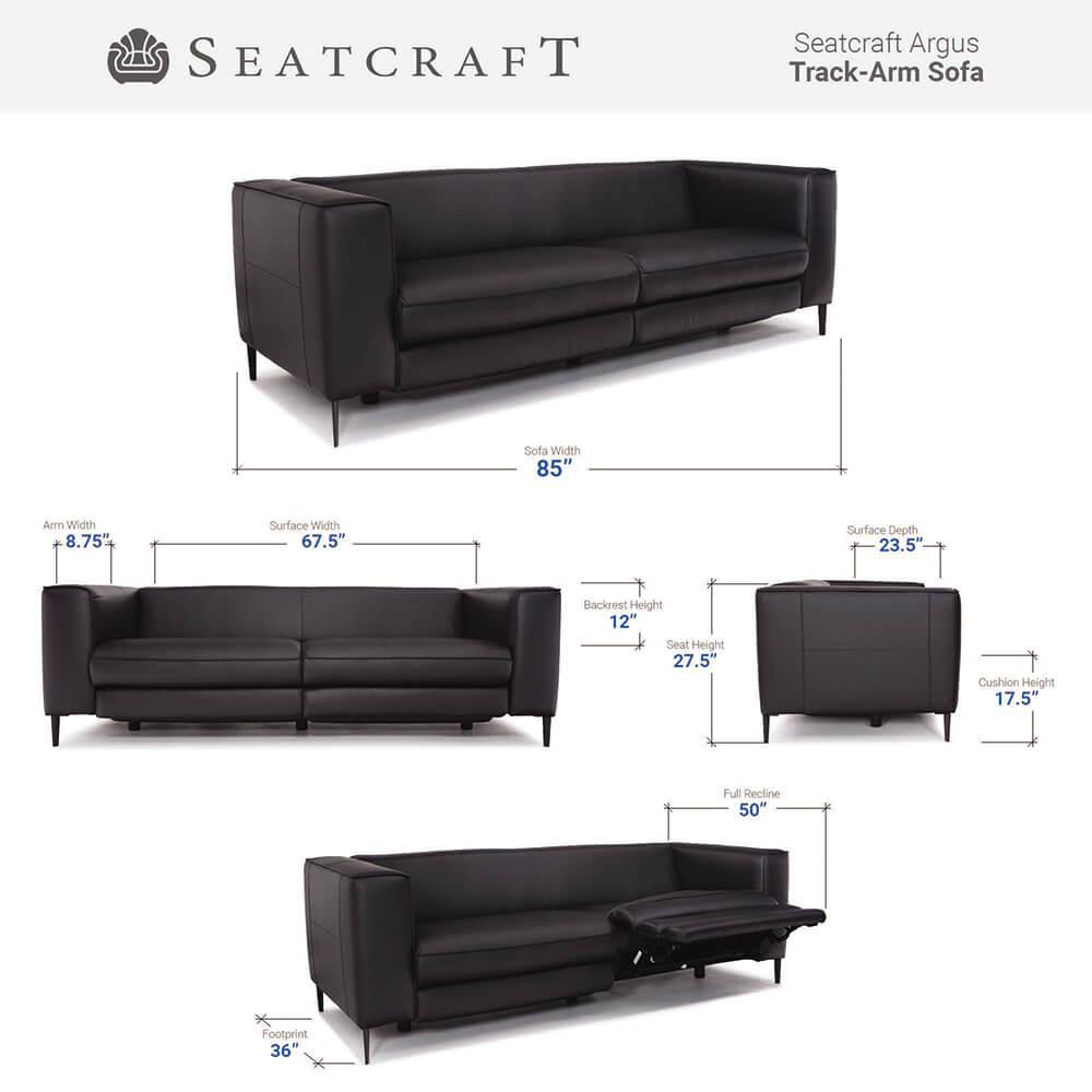 Seatcraft Argus Media Room Seating Dimensions