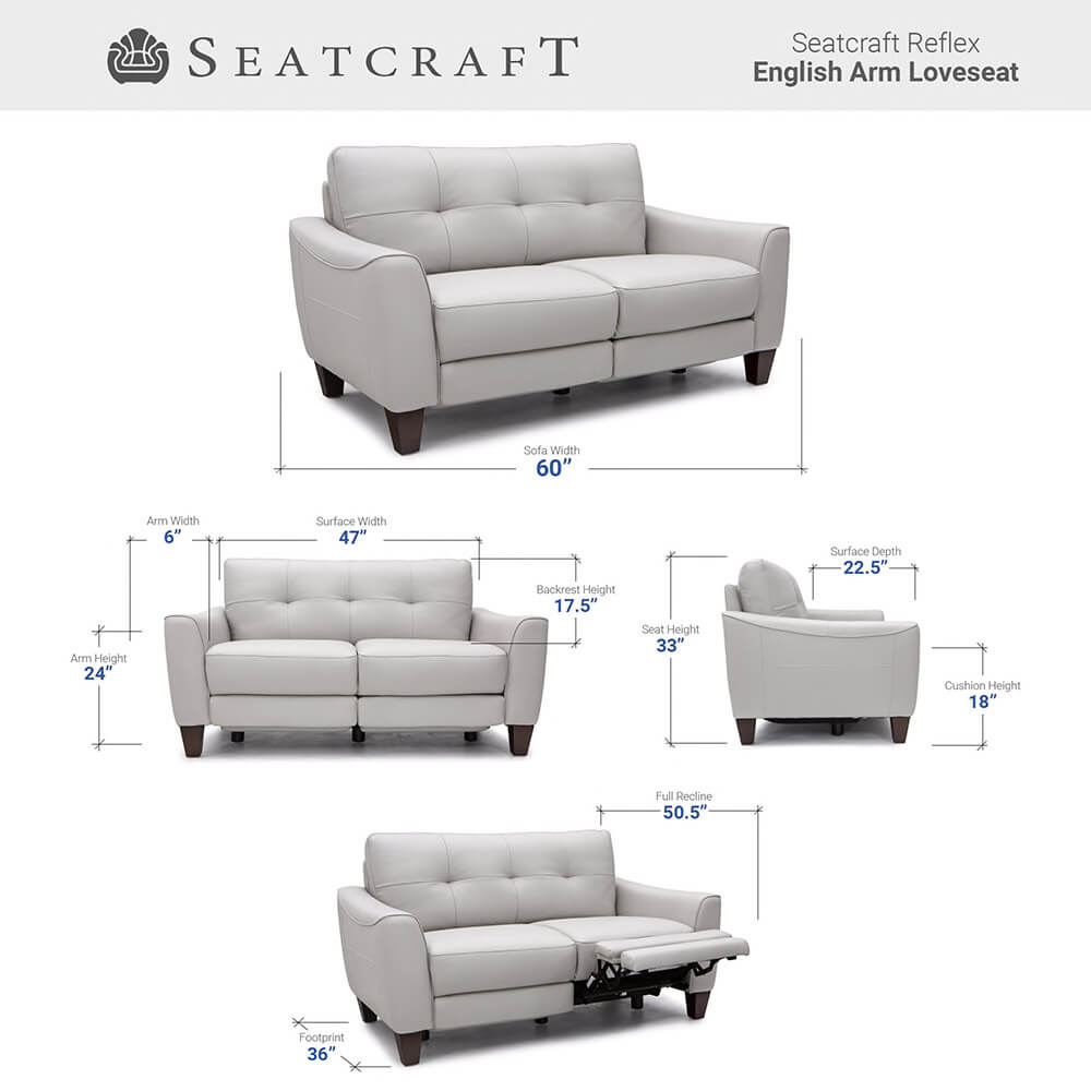 Seatcraft Reflex Living Room Furniture Size