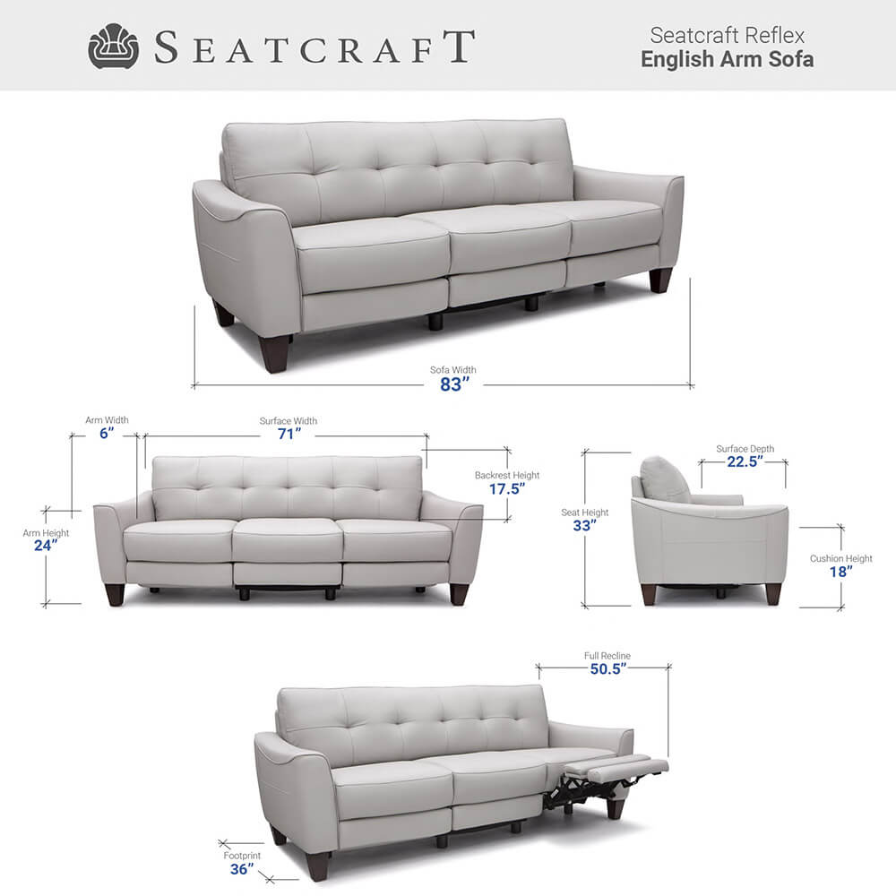 Seatcraft Reflex Media Room Seating Dimensions